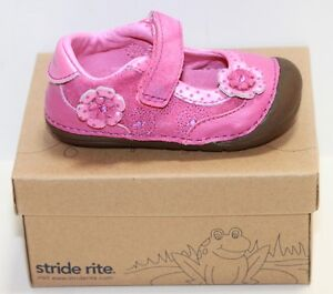 Girls Infant Stride Rite BG43245 SRT SM Nancy Pink/Multi Mary Janes Sz 5w NIB
