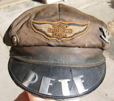 "1940s Harley Davidson Motorcycle Club Hat - ""PETE"""