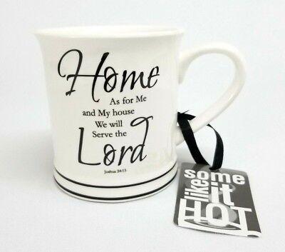 New HOME ESSENTIALS White Religious Coffee Mug Tea Cup - Christian Joshua 24:15](Religious Coffee Mugs)