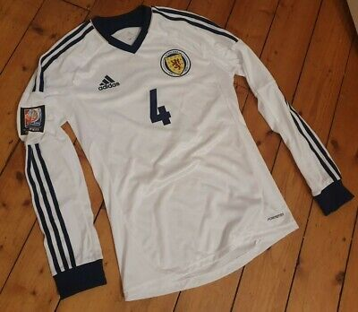 Match Worn Issued Scotland Woman's World Cup 2015 Qualifiers Shirt Faroe Islands image
