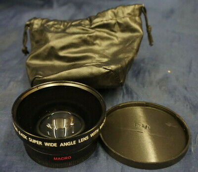 Macro Digital High Definition 0.43X Super Wide Angle Lens W/Case