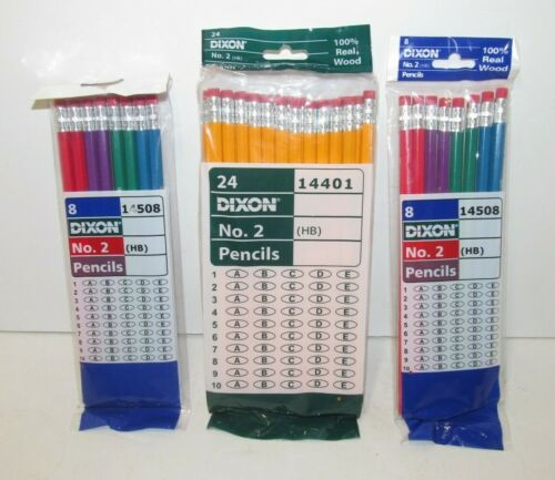 40 NEW DIXON Ticonderoga No. 2 Real Wood Pencils