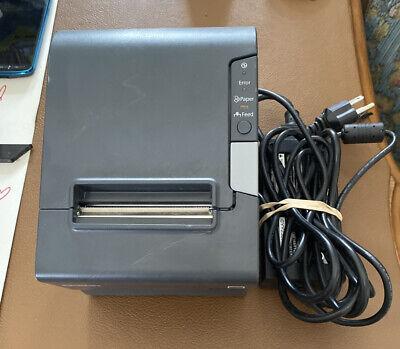 Epson Tm-t88v M244a Thermal Pos Ethernet Receipt Printer W Power Supply
