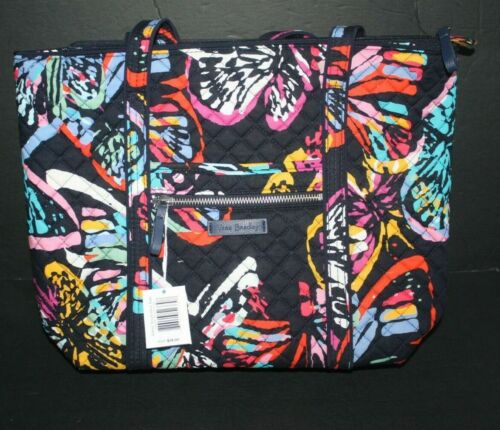 VERA BRADLEY Butterfly Flutter Iconic Small Vera Tote  NWT Exact!
