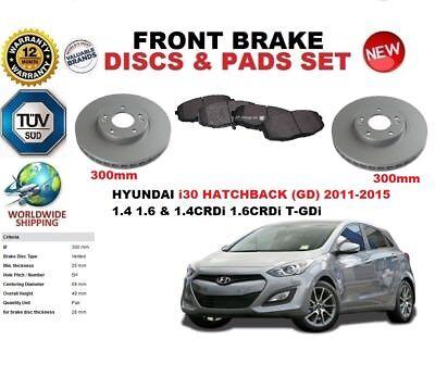 Para Hyundai i30 GD Hatchback 2011-2016 Frente Juego Discos Freno + Pastillas comprar usado  Enviando para Brazil