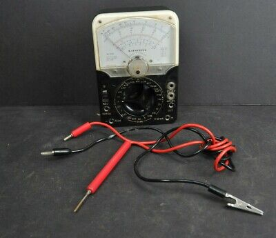 Vintage Lafayette Industrial Multimeter Analog Model 99-5004 With Cables