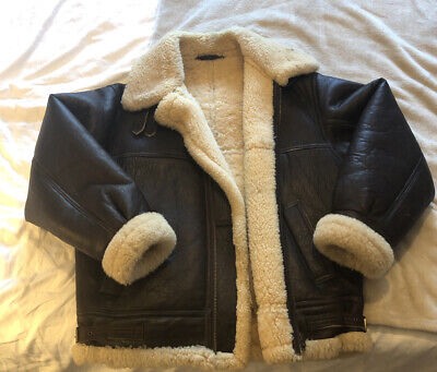 TREKWAY LEATHER FLYING JACKET - REAL SHEEPSKIN - VINTAGE - MENS MEDIUM 40