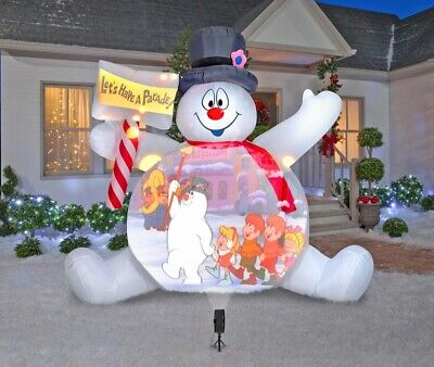 Frosty The Snowman 10 Foot Inflatable Video Projector , Hardly Used