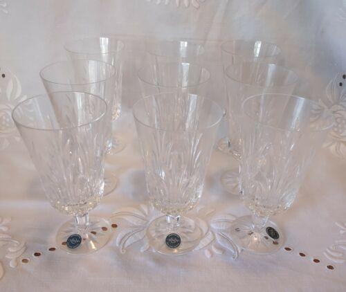 Set Of 9 Lenox Crystal SARATOGA Iced Tea Glasses 6 3/4 MINT Signed USA Goblet - $179.99