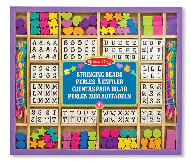 Melissa & Doug Wooden Stringing Beads - Children's Craft Set