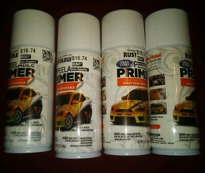 Rust-oleum Peel Coat Peelable Primer Spray Paint 4 12oz. Cans Nw Free Shipping
