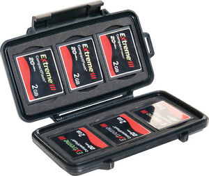 New-Black-PELICAN-0945-CF-Compact-Flash-memory-Card-CASE-replaces-0940