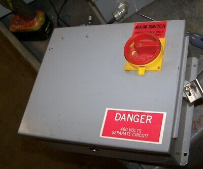 Electrical Enclosure With 20 Amp Moeller P1-25 Disconnect 3 Phase 10 X 12 X 5