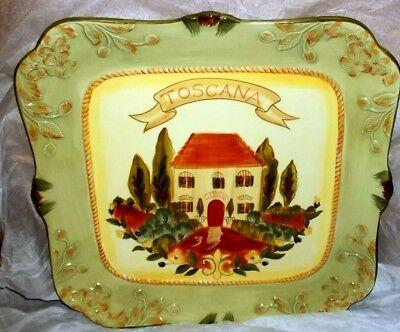 16' Large Square Platter - Toscana Certified International LARGE SQUARE 16