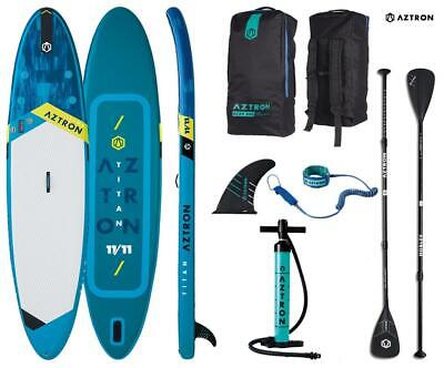 AZTRON TITAN 11.11 inflatable SUP Stand up Paddle Board mit Style Alu...