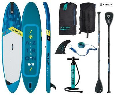 AZTRON TITAN 11.11 inflatable SUP Stand up Paddle Board mit SPEED Carbon...