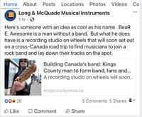 Canada Wide Search for Rock Musicians