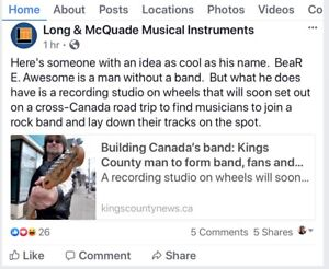 Auditioning Rock Musicians CANADA Wide