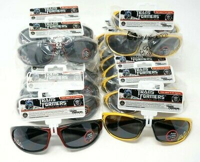 Lot of 19 Children's Kid's Sunglasses Transformers Red Prime & Yellow (Bumblebee Sunglasses)