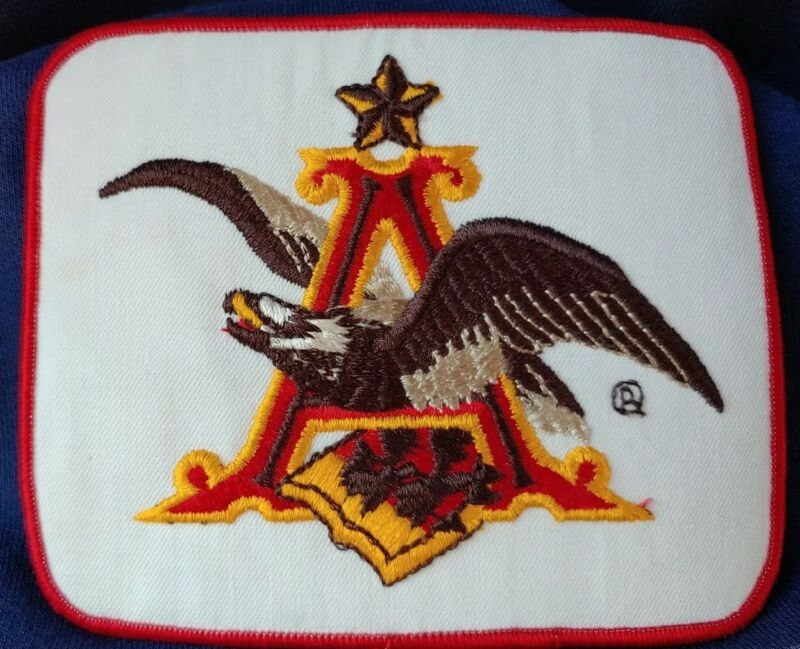 """Anheuser Busch Eagle • Embroidered Cloth Patch • Budweiser Beer Logo 5.5"""" x 4.5"""""""