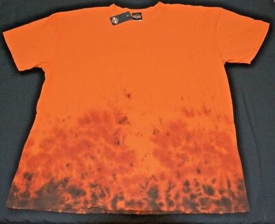 Harley-Davidson Men's T-Shirt, Cool Fire Like Tie-Dye Team Stratman Design, LOOK