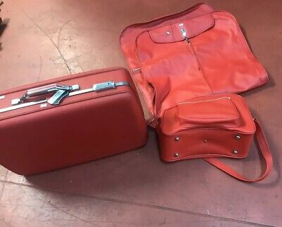 Vintage Samsonite Travel Suit Case SET OF 3 Red