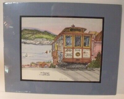1984 San Francisco Cable Car - Hyde St & Beach/Powell & Market PRINT 1984/Signed