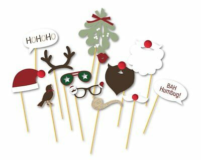 13pcs Christmas Photo Booth Props Kit on a Stick for Party Supplies  (Christmas Props For Photo Booth)