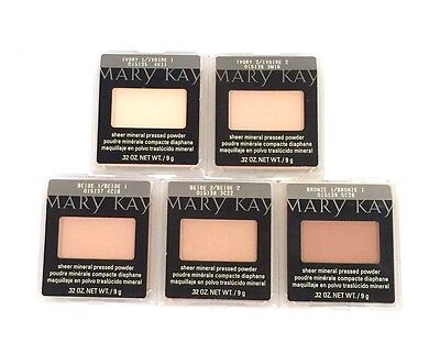 MARY KAY SHEER MINERAL PRESSED POWDER~FULL SIZE~MATTE~6 SHADES~FREE SHIPPING!