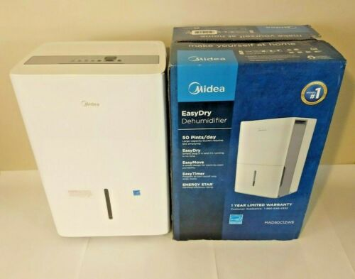 Midea EasyDry 50 Pint Dehumidifier - Protects from Mold & Mildew