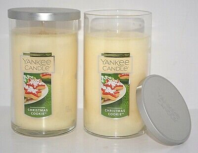 2 YANKEE CANDLE CHRISTMAS COOKIE SCENTED TUMBER JAR SINGLE WICK 12 OZ NEW