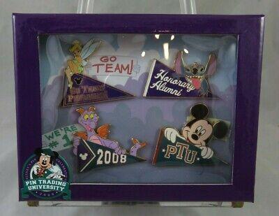 Disney Pin Trading University Pennants Set - Stitch Figment Tinker Bell -