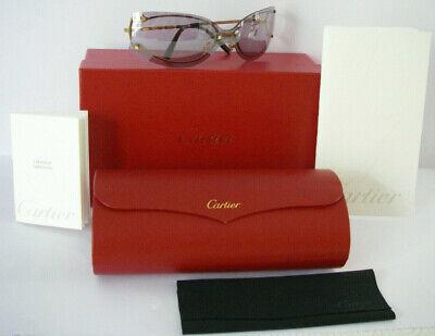 Neuf stock cartier lunettes de soleil plaqué or gold plated glasses + certificat