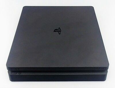 Sony Playstation 4 PS4 Slim 1TB Console CUH-2215B Jet Black Good Shape