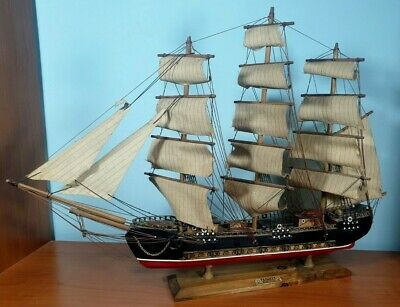 Modellino VELIERO nave da collezione FRAGATA SIGLO XVIII barca legno D'EPOCA
