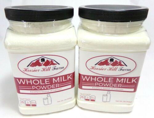 2 X Hoosier Hill Farm All American Whole Milk Powder, 2 Lb. Each, Exp. 04/2022