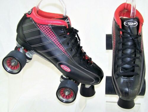 OZONE 500 Black Red LowTop Quad Mothership Wheels LaceUp Mens Roller Skates US 9