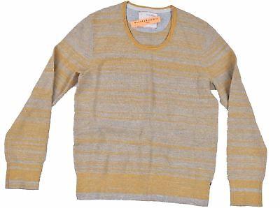 Banana Republic Mens Heritage Crewneck Lightweight Sweater SZ M Stripe Yellow
