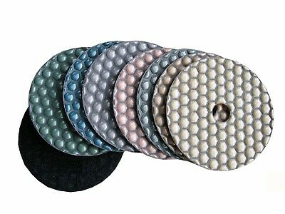 4 Diamond Dry Polishing Pad Grit 50-400 X 70 Pieces For Stone Granite Marble