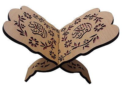 "Quran Holder koran Reading folding Stand Rehal Wood Carved Islam 8"" Muslim 399"