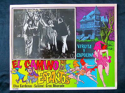 VIRUTA Y CAPULINA EL CAMINO DE LOS ESPANTOS CHESPIRITO LOBBY CARD PHOTO 1965