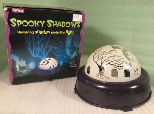 Vintage 1997 Spooky Shadows Battery Operated Revolving Shadow Projection Light