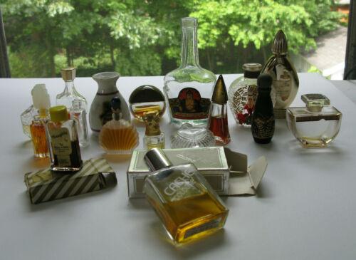 17 Vintage Assorted Perfume Bottles Lot