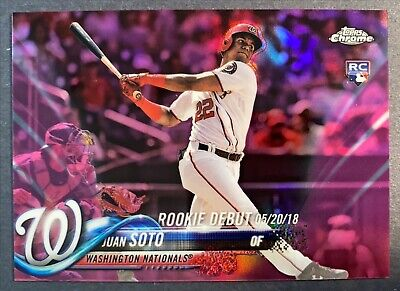 Juan Soto RC 2018 Topps Chrome Update Pink Refractor HMT98 Rookie Debut