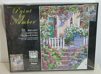 Gate Paint By Number - Vintage Unframed Paint By Number Flower Garden Gate 16