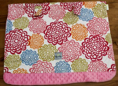 Itzy Ritzy PINK FLOWER CAR SEAT COVER Reversible Canopy Baby Minky Fresh Bloom