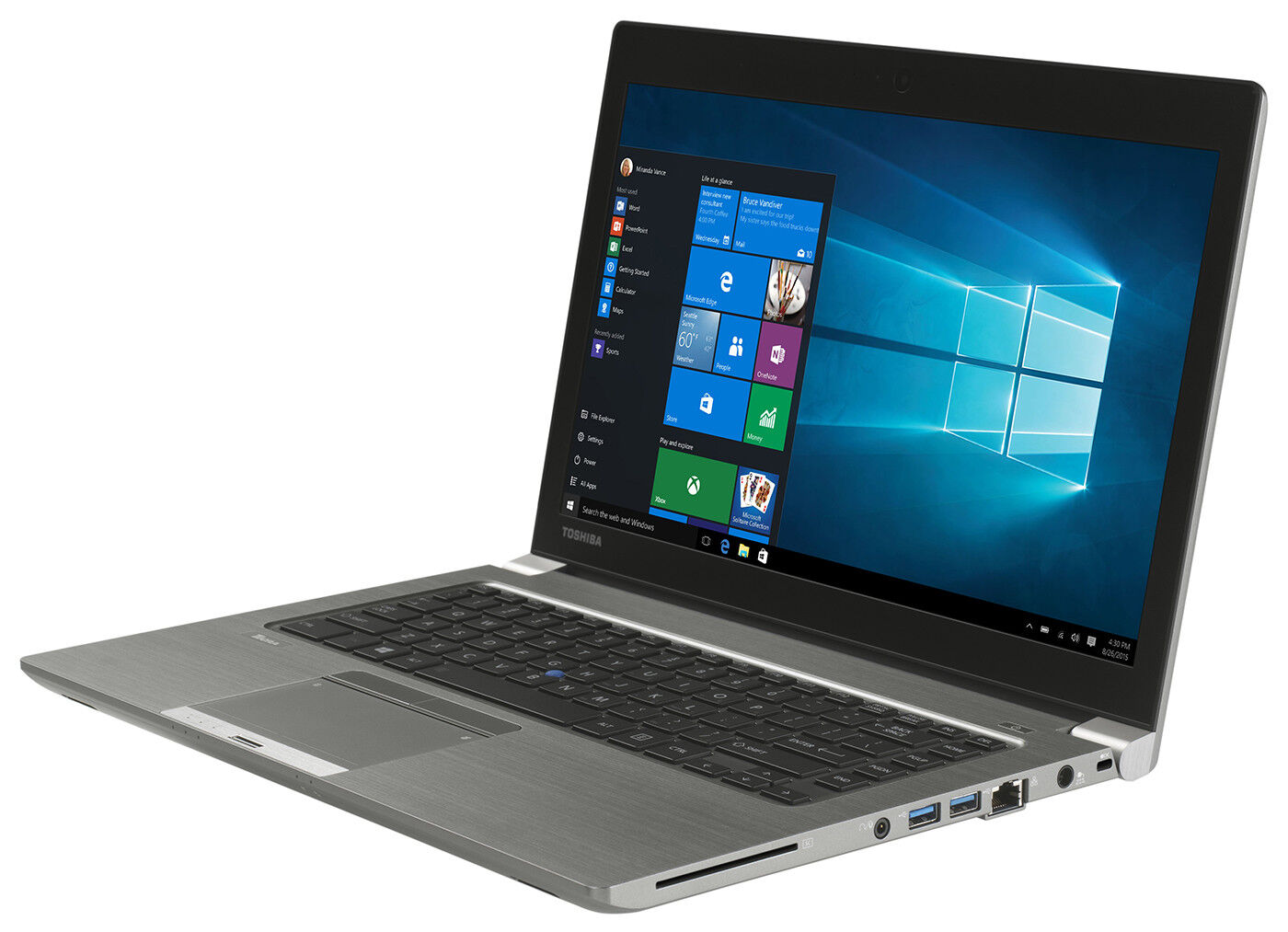 "Toshiba Tecra Z40 14"" HD+ Intel i5 5300U 8GB RAM 256GB SSD Webcam Windows 10 Pro"
