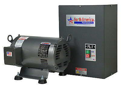 Pl-7 Pro-line 7.5hp Rotary Phase Converter - Built-in Starter Made In Usa