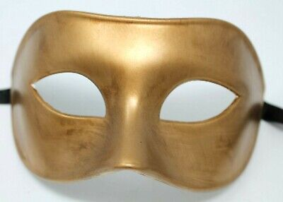 QUALITY MENS MALE GOLD Venetian Masquerade Party Eye Carnival Mask