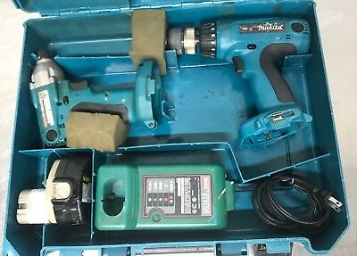 Makita Set 6337d Cordless Impact Drill Driver 6932fd Charger Dc1414 Battery 1434